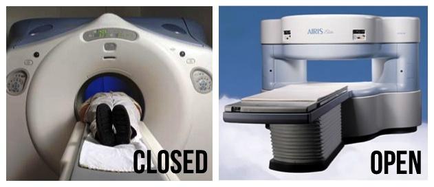 open vs closed mri machine