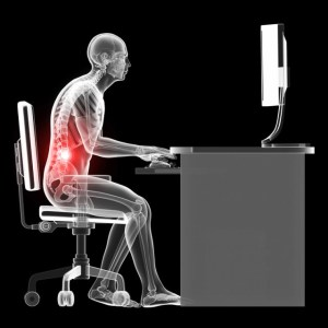 poor seated posture